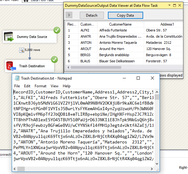 SSIS Dummy Data Source