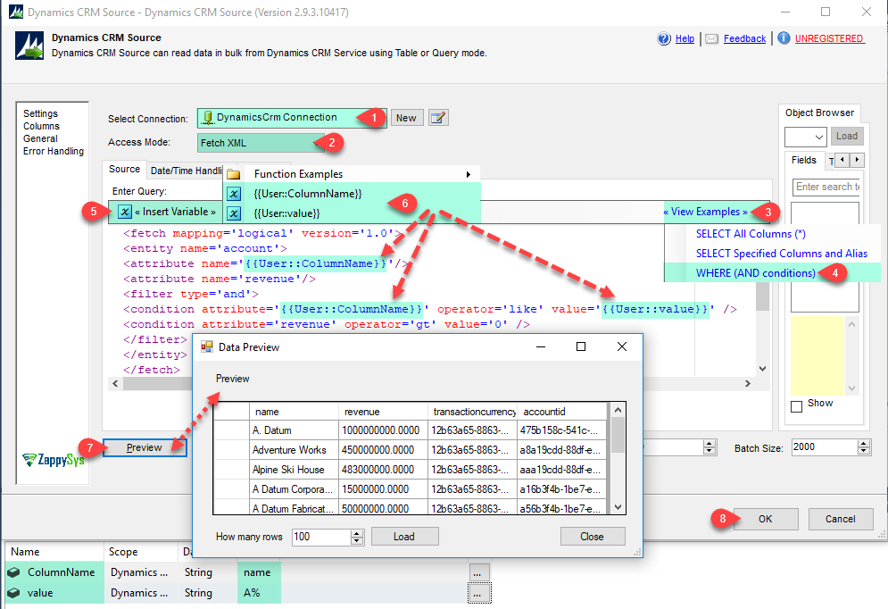 SSIS Dynamics CRM Source - Read data in Query mode using FetchXML