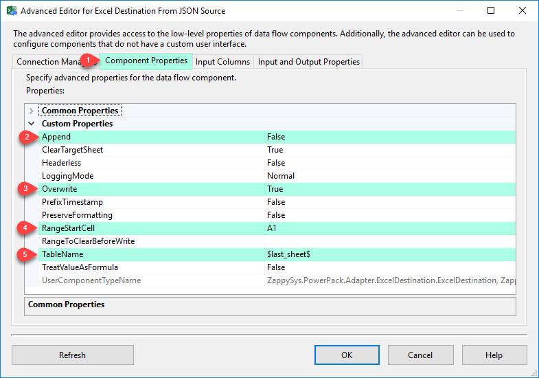 SSIS Excel File Destination Connector - Visual Studio
