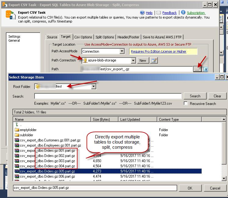 SSIS Export JSON File Task - SQL to JSON File / Azure / S3