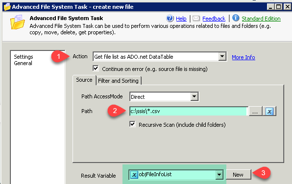 SSIS get sorted file list and loop through it - Advanced SSIS File System Task