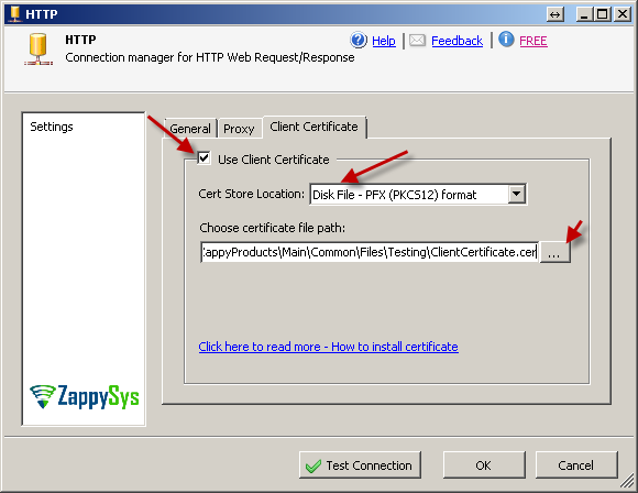 how to send p12 certificate only
