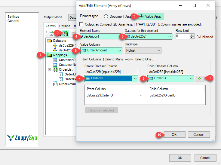 JSON Generator Transform - Add/Edit Value Array