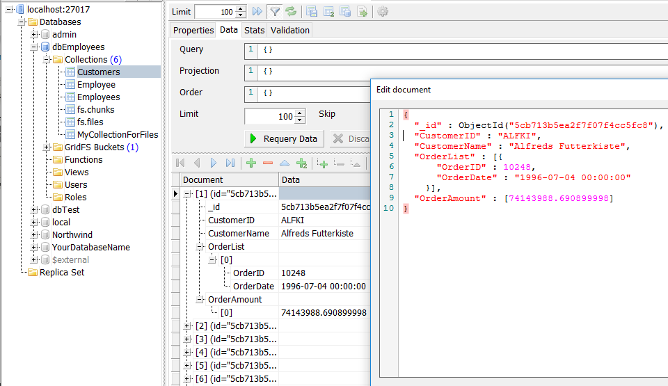 View MongoDB JSON Documents using 3rd party client tool