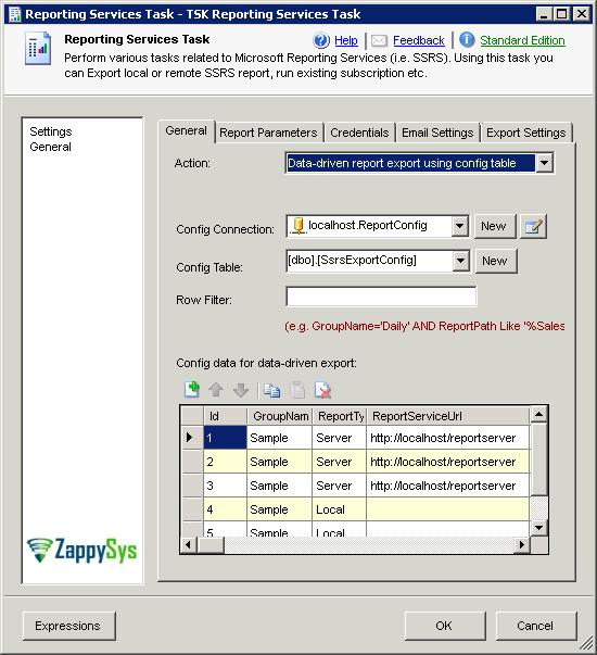 Ssis Report Generator Task Zappysys