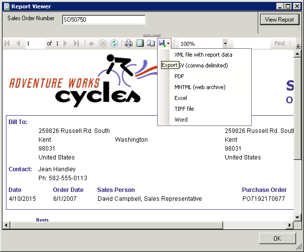 SSIS Reporting Services Task - Export Server Report Screen