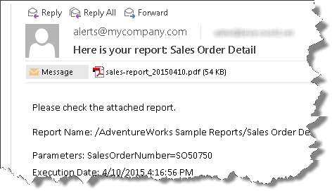 SSIS Reporting Services Task - SSRS Report sent as email attachment