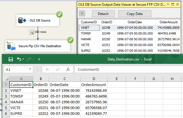 SSIS Secure FTP CSV File Destination – Loading data from SQL Server to Secure FTP