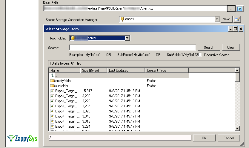 SSIS Secure FTP XML File Source – Select XML File(s) using Blob Browser UI