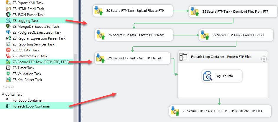 SFTP Task Operations - Upload, Download, Delete