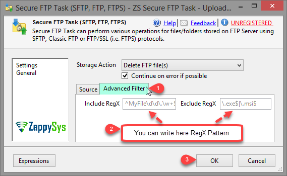 ssis-sftp-upload-include-exclude-regex-pattern-use-wildcard