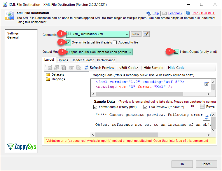 SSIS XML Destination (Create XML File)   ZappySys