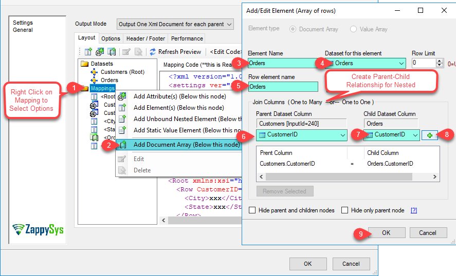 XML Generator Transform - Add/Edit Document Array