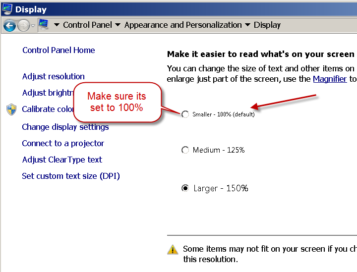 Fixing windows 7 font scaling issue for SSIS PowerPack