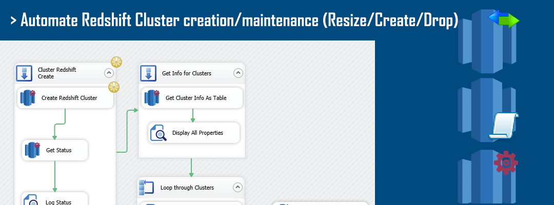 SSIS Amazon Redshift Cluster Management Task - Automate Redshift Cluster Creation, Drop, Resize in few clicks