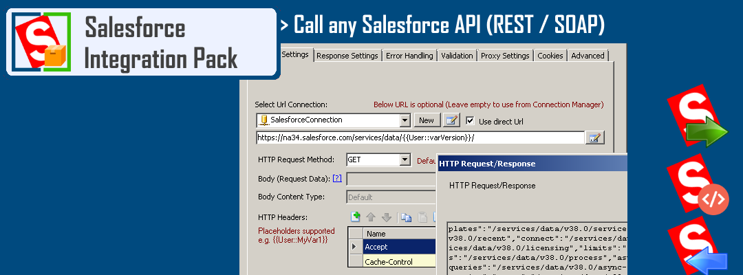 Call any Salesforce API (REST / SOAP) in SSIS using drag and drop user interface