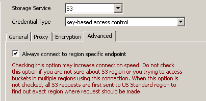 SSIS Amazon S3 Connection - Region specific endpoint option