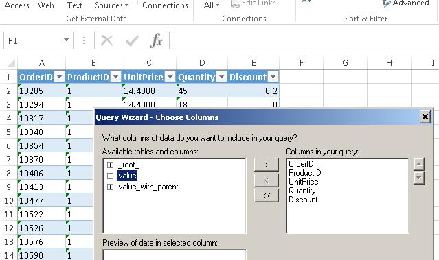 Microsoft Excel Integration - ODBC Driver connection for REST API / XML / JSON / SOAP / OData